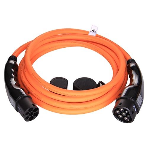 1-EV Type2 -> Type2 orange (3x32A) EV Laddkabel